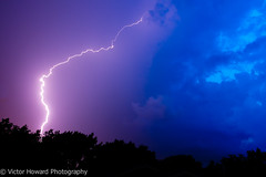 Lightning Strike v2 (Victor Howard) Tags: storm night clouds landscape lightning lightningstrike stormnight perfectsunsetssunrisesandskys