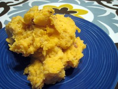 Mashed potato and sweet potato