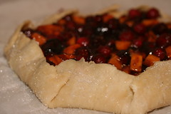 Cranberry Persimmon Lime Galette - Tuesdays with Dorie