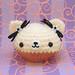 Amigurumi Vanilla Bean cupcake bear