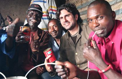 Hernán Zin en Kibera (Foto: Hernán Zin)