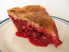 Double-Crust Deep Red Raspberry Pie - Slice