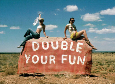 Double your fun, taken by Markku in May 2006, near Grand Canyon.