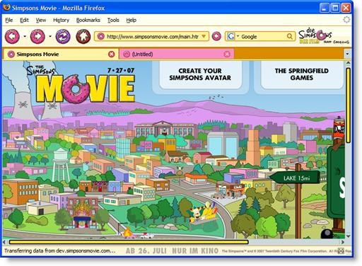 Tema de Pelicula de Simpsons para Firefox