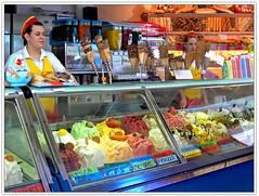 the best ice cream in town (heavenuphere) Tags: italy ice italia yum cream icecream gelateria sirmione lakegarda lagodigarda