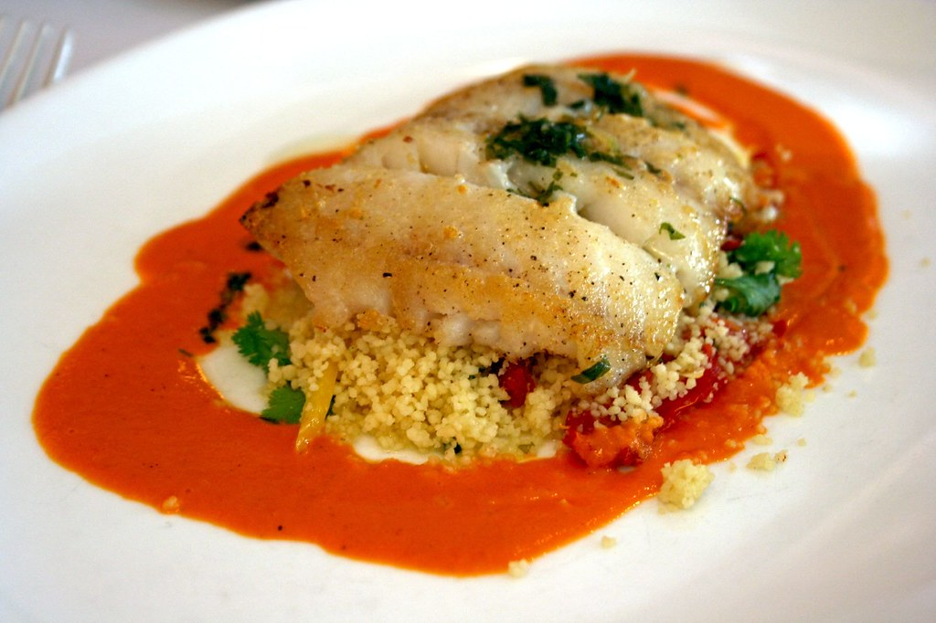 Seared Hake with couscous