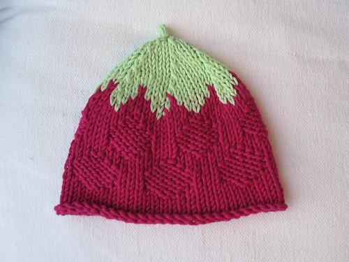 raspberry baby hat