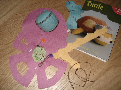 Hand Sewing for Fun Turtle (work in progress)