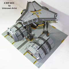 "13th ""Fleebnork"" Company Outpost (Unknown-Artist) Tags: lego space military wip unknownartist outpost moc"
