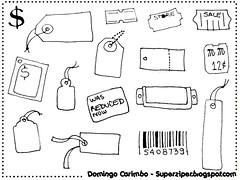 Domingo-carimbo: etiquetas