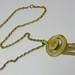 Avon Gold Disk Necklace
