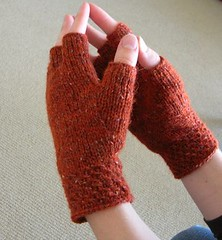 Pumpkin Spice Knucks (the yarniad) Tags: knitting knitty knucks