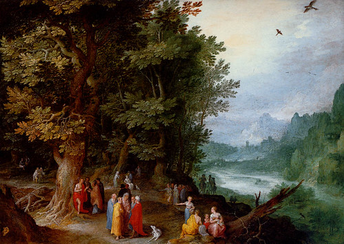 JAN BREUGHEL, THE ELDER (1568-1625) Saint John preaching in the wilderness (c. 1615) Oil on copper 25.5 BY 35 cm.