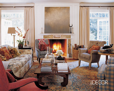 Michael S. Smith's living room, featured in Elle Decor,house, interior, interior design