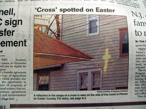 Cross Appears on Easter Sunday
