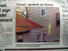 Cross Spotted on Easter