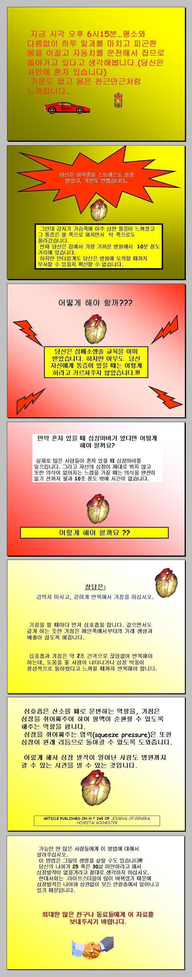 심장마비 대처법