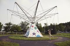 afterhours (yyellowbird) Tags: abandoned girl swings amusementpark cari tyjon