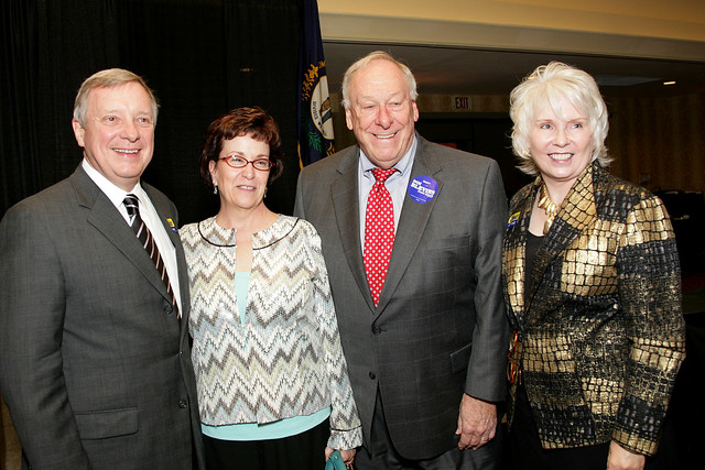 Senator Dick Durbin with Fayette County Supporters