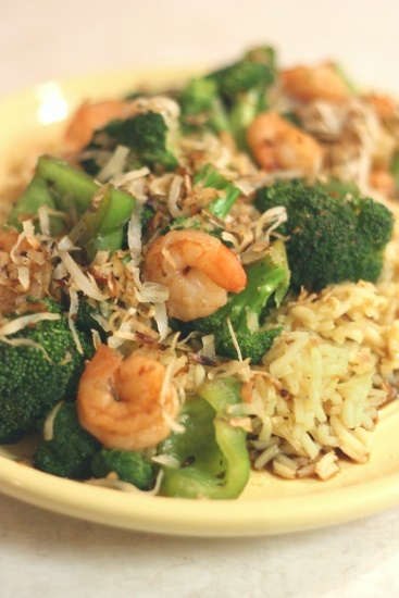 Shrimp with Coconut Rice - 2