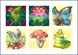 free Butterflies slot game symbols