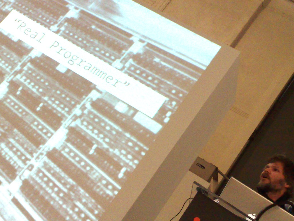 Casey Reas speaks at Design Dialogues in the Media Design Program at the Art Center College of Design. Friday November 19th 2010.