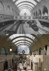Musee d'Orsay... Then and Now (Jasperdo) Tags: paris museum railwaystation trainstation museedorsay thenandnow nowandthen orsaymuseum