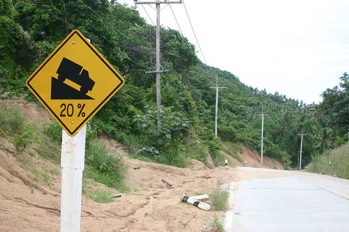 Insanely steep roads on Koh Pha-Ngan