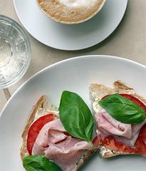 Irrewarra with ham, tomato, basil by poppalina
