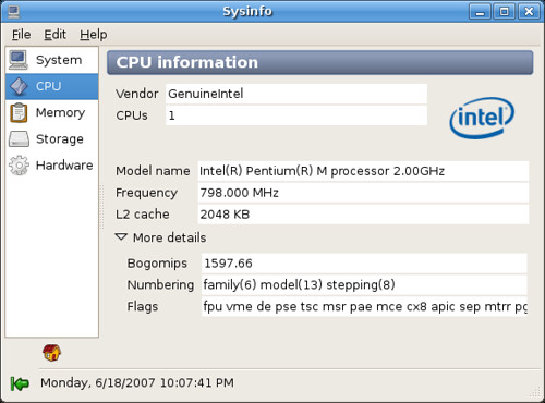 Sysinfo for Linux » Niath