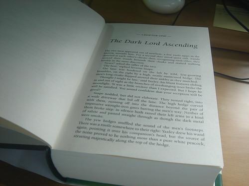 primer capitulo del Septimo libro de Harry potter