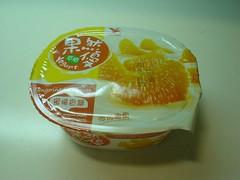[點心] 統一果然優優格_蜜橘香瓣口味 (1)