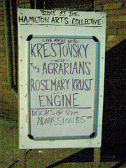 8/24/07 marquee (Nicky Smith) Tags: hamilton arts engine rosemary collective krust krestovsky agrarians