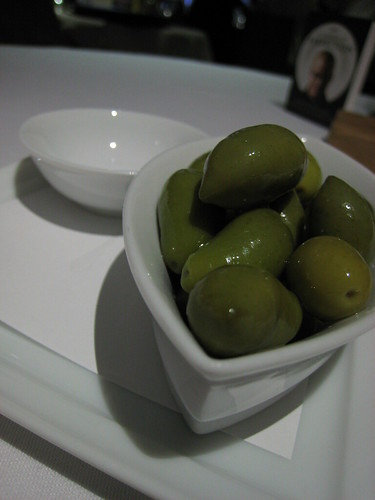 Picholine olives for us to nibble