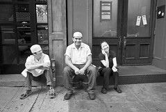 Portrait of Three on a Break - by Susan NYC