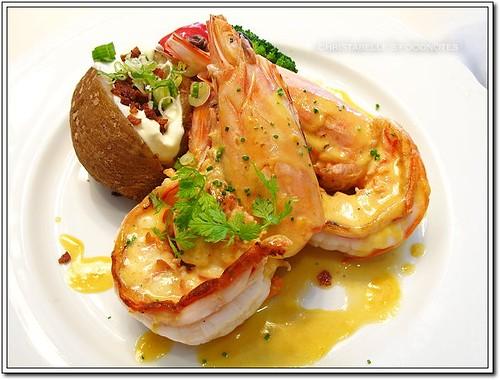 世貿聯誼社西餐廳煎烤大明蝦