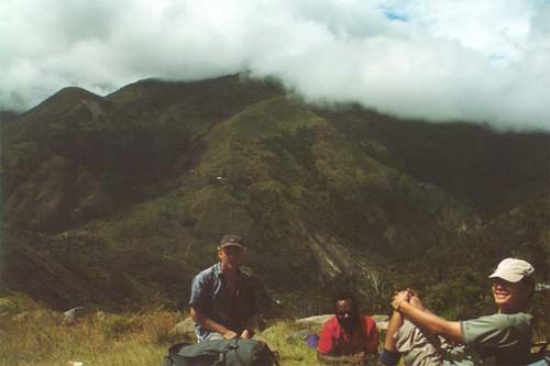 Baliem Valley - Irian Jaya - Nick and Ken resting