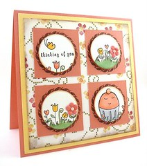 Sweet card made with Cakespy stamps