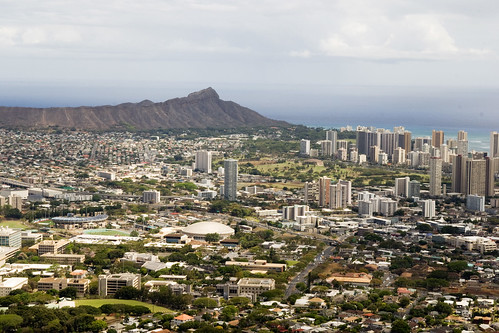 Looking over Honolulu