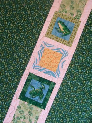 Frog quilt: Back