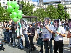 (1) (sabzphoto) Tags: people london iran crowd protest sultan neda agha soltan  iranelection
