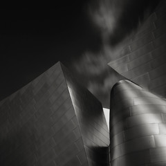 enigma (Tuan__) Tags: california sky blackandwhite bw architecture clouds hall losangeles concert long exposure downtown day disney daytime walt