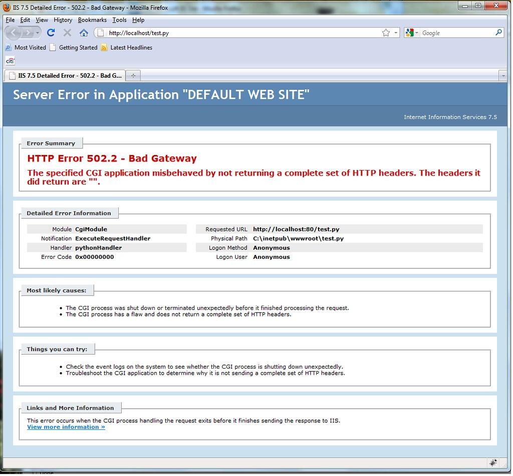 Configuring Python on IIS 7 : The Official Microsoft IIS Forums