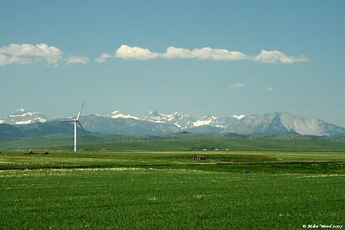 wind turbine. alberta