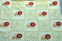Baby dreams . A knitted blanket (sifis) Tags: knitting baby blanket knit sakalak greece merino handknitting wool d200 nikon yarnshop athens lion children dream