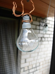 a bulb (mattsonster) Tags: light urban macro broken bulb idea design interesting wire industrial explore copper ideas copperwire industrialdesign luminosity macroworld