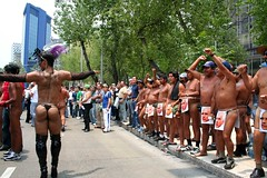 My My! (Quade Hermann) Tags: mexico pride parade gay homosexual lesbian march veracruz protests transexuals crossdressers nudity stilts bodylanguage gaypridearoundtheworld