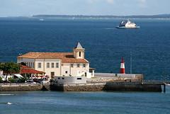 Ponta do Humait (Fonseca) Tags: mar igreja farol ferryboat pontadohumait