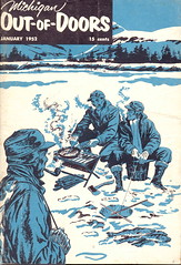 1952 Vintage Ice Fishing  MI Out of Doors
