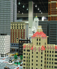 LEGO City with Detroit Buildings at NMRA National Train Show 2007 (DecoJim) Tags: architecture skyscraper buildings lego michigan detroit chasetower 2007 cobo fisherbuilding penobscotbuilding davidstottbuilding nmra 1001woodward legocity legometropolis keanapartments nationaltrainshow nmrants2007 nationalmodelrailoadassociation coboconferencecenter nmra2007detroit 2007nmra legodetroit legomodelbuildings legomichigan